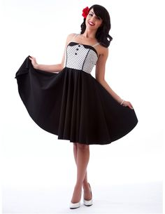 Steady Clothing Dolly Black Swing Dress