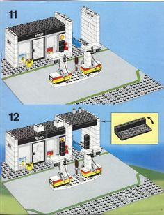 Thousands of complete step-by-step printable older LEGO® instructions for free. Here you can find step by step instructions for most LEGO® sets. Lego Duplo, Lego Technic, Lego Moc, Technique Lego, Instructions Lego, Lego Structures, Modele Lego, Lego Winter Village, City Layout