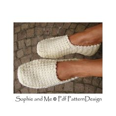 Winter Loafer Crochet Pattern Slippers Basic by PdfPatternDesign Crochet Slipper Pattern, Crochet Shoes, Crochet Slippers, Knit Crochet, Carrie, One Piece, Slipper Boots, Easy, Sneakers