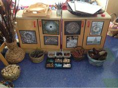 Inquiring Minds: Mrs. Myers Kindergarten: Nature Inspired Art (Loose Parts). For more inspiring classrooms visit: http://pinterest.com/kinderooacademy/provocations-inspiring-classrooms/ ≈ ≈