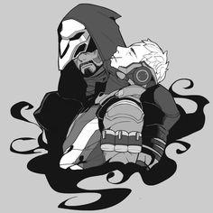Overwatch Soldier76 and Reaper. https://twitter.com/saimensHU/media