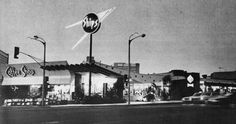 Googie Architecture -- Ships on Wilshire Boulevard in Los Angeles -- 1958