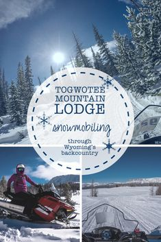 Togwotee Mountain Lodge outside of Jackson, Wyoming is the perfect base for an epic day of snowmobiling on the Continental Divide Trail System.