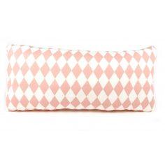 Nobodinoz cushion diamond pink 52 x 25 cm Pantone, Bed Pillows, Cushions, Baby Wish List, Cushion Diamond, Pink Kids, Getting Cozy, Diamond Pattern, Baby Accessories