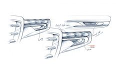 Volvo Concept You Headlight Design Sketch