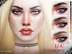 Sims 4 CC's - The Best: Lou Eyebrows N114 by Pralinesims