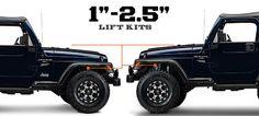 Jeep TJ Lift Kits 1 - 2.5 Inch (1997-2006 Wrangler)