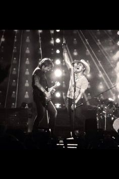 Dustin Lynch and Keith Urban. Light The Fuse Tour