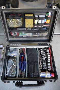 Tools storage - Page 9 - Expedition Portal. pelican 1520 case with the soft divider set and photographer's lid organizer Jeep Xj Mods, Truck Mods, Jeep Jk, Acessórios Jeep Wrangler, Toyota Truck Accessories, Offroad Accessories, Truck Accesories, 4x4 Accessories, Camping Accessories