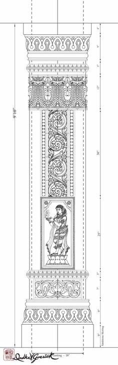 Want to build pillar in your house Temple Drawing, Styrofoam Art, Pillar Design, Indian Illustration, Temple Architecture, Column Design, Temple Design, Exotic Art, Tanjore Painting