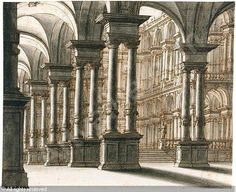 Architectural fantasy of a palace courtyard sold by Sotheby's, New York, on Wednesday, January 25, 2006