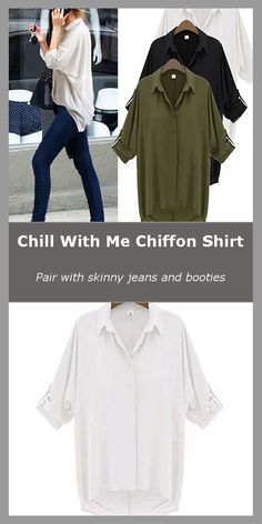 Forget the Fashion Faux Pas and wardrobe malfunctions! When temperature is rising outside, wear the Chill With Me Chiffon Shirt and Just Chill to be yourself anytime, anywhere