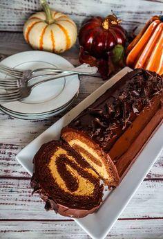 Vegan Chocolate Pumpkin Cake Roll | Fragrant Vanilla Cake