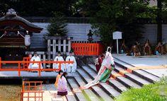 Aoi Matsuri festival (葵祭) 京都 御禊の儀を行う斎王代 下鴨神社