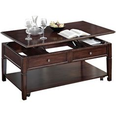 Malachi Lift Top Coffee Table, Walnut