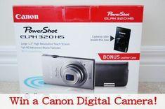 *Last Chance* Giveaway: Free Canon Digital Camera if You Follow MrsJanuary on Pinterest