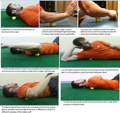 Self Myofascial Release with Tennis Ball to Release Muscle Tension