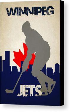 Jets Canvas Print featuring the photograph Winnipeg Jets by Joe Hamilton