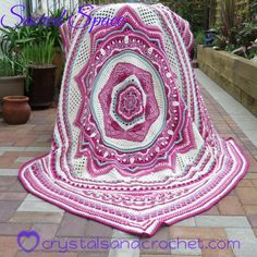 Ravelry: Sacred Space pattern by Helen Shrimpton Motifs Afghans, Afghan Patterns, Crochet Blanket Patterns, Crochet Blankets, Crochet Afghans, Crochet Potholders, Baby Afghans, Crochet Stitches, Crochet Gratis