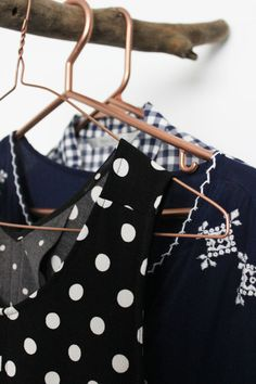 DIY copper clothes hangers