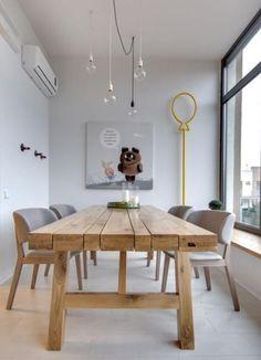 Mesa de madera MACIZA Elegant Dining Room, Dining Room Sets, Dining Room Table, Extendable Dining Table, Best Dining, Apartment Interior, Interior Design Kitchen, Living Spaces, Furniture Design