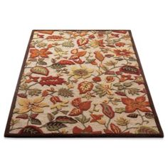 Greensboro Indoor Area Rug  Awesome area rug. How does your garden grow?  Grandin Road Color Crush on Burnt Orange