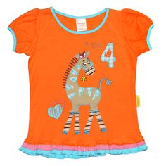 Birthday T-shirts - I am Four T  #fairtrade #childrensclothing