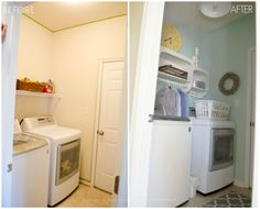 laundry room makeover on the cheap!