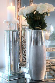 Vakker vase i sølv