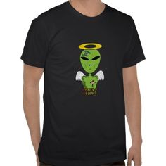 Alien or Angel Funny Graphic T-shirt