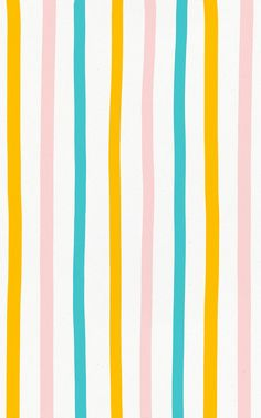 Style a playful space that features pops of stylish color with this Pastel Colorful Stripe Wallpaper Mural. Featuring fresh blue, orange and pink stripes on a paper texture backdrop, this fun hand drawn design has a rustic nature that makes it a great choice for kids' bedrooms or playrooms. The simple style of the design however means it's versatile enough to work in a range of spaces and themes, why not brighten up your office space, creating a positive energy. Orange Wallpaper, Striped Wallpaper, Iphone Background Wallpaper, Pastel Wallpaper, Simple Wallpapers, Phone Wallpapers, Stripes Design, Pink Stripes, Geometric Wallpaper Murals
