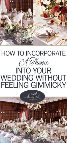 Themed Weddings, Wedding Tips, Themed Wedding Events, How to Pick a Theme for Your Wedding, Non Cheesy Wedding Themes, Dream Weddings, Wedding Planning Tips and Tricks, Popular Pin