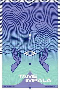 tame impala gig posters - interesting designs, appeals to young new age audiance Event Poster Design, Event Posters, Tour Posters, Band Posters, Music Posters, Retro Posters, Flyer Design, Tame Impala, Gig Poster