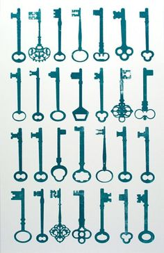 Skeleton Key- some of these would make good tattoos…. I love the intricate ones with.  Quote underneath