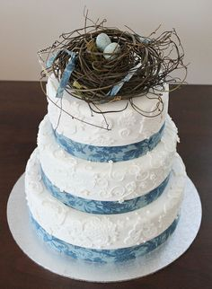 Birds Nest Wedding Cake