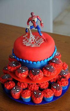 50+ Ideas cake for boys birthday spiderman #cake #birthday...