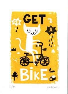 Get a bike limited gocco print | evidenti