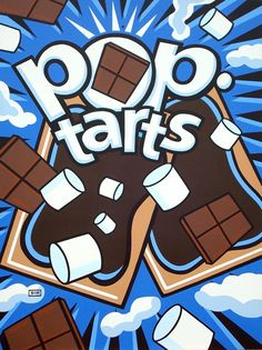 Burton Morris Pop-Tarts Paintings at Hamilton-Selway Fine Art in Los Angeles – Eat Me Daily