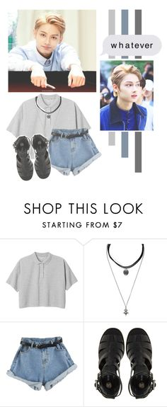 """""""Wen Junhui"""" by lazy-alien ❤ liked on Polyvore featuring Monki, Forever 21, River Island, seventeen, jun and WenJunhui"""