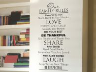 Our Family Rules Wall Quote