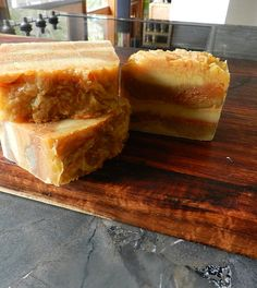 Carrot pulp upcycled into a soap