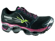 Mizuno Women's Wave Prophecy 2 Anthracite Electric Green Running Shoes All Sizes