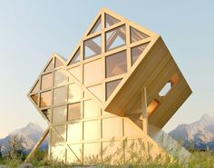 Gorgeous Valley House is a geometric timber cabin inspired by the Dolomite Mountains Plan-Bureau-Valley-House-2 – Inhabitat - Green Design, Innovation, Architecture, Green Building