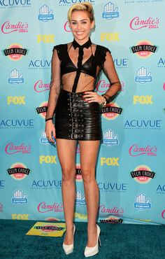 Miley Cyrus proves why she deserved to win Candie's Fashion Trendsetter at the TCAs.