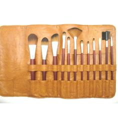 Professional 12pc Synthetic Makeup Brush Set Vegan Approved. #beauty, #tool, #makeup, #brushes
