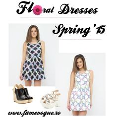 Romantic floral mini dresses for spring and summer. Mini Dresses, Spring Dresses, Floral Style, River Island, Style Fashion, Outfit Ideas, Gucci, Vogue, Polyvore
