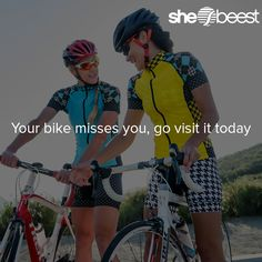 Inspiration to get up, get outside, and go cycle!