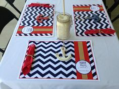 50 Customized Paper Placemats for Baby Shower by Paperpetalsshop, $38.00