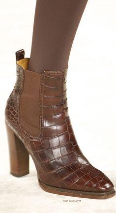 0140883ee Fall 2016 Ready-to-Wear Ralph Lauren Stylish Boots, Ralph Lauren Style,