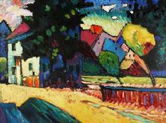 Vassily Kandinsky - Murnau-Landscape with../1909